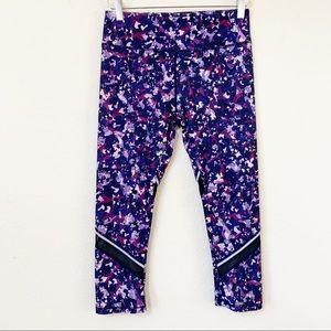 Fabletics Debbie Reflective Capri Purple Leggings